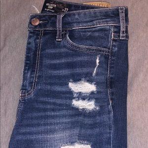 Hollister Crop highrise skinny jeans